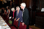 LIBBY COLEMAN; NICK AINLEE, The People's Book Prize, The Stationers' Hall, Ave Maria <br /> Literary award voted for by the public and founded by Dame Beryl Bainbridge. 20 July 2011.<br /> <br />  , -DO NOT ARCHIVE-© Copyright Photograph by Dafydd Jones. 248 Clapham Rd. London SW9 0PZ. Tel 0207 820 0771. www.dafjones.com.
