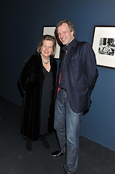 HUGO BURNAND and his mother URSY BURNAND at a private view of Photographs by Cecil Beaton celebrating the diamond jubilee of HM The Queen Elizabeth 11 at the Victoria & Albert Museum, Cromwell Road, London on 6th February 2012.