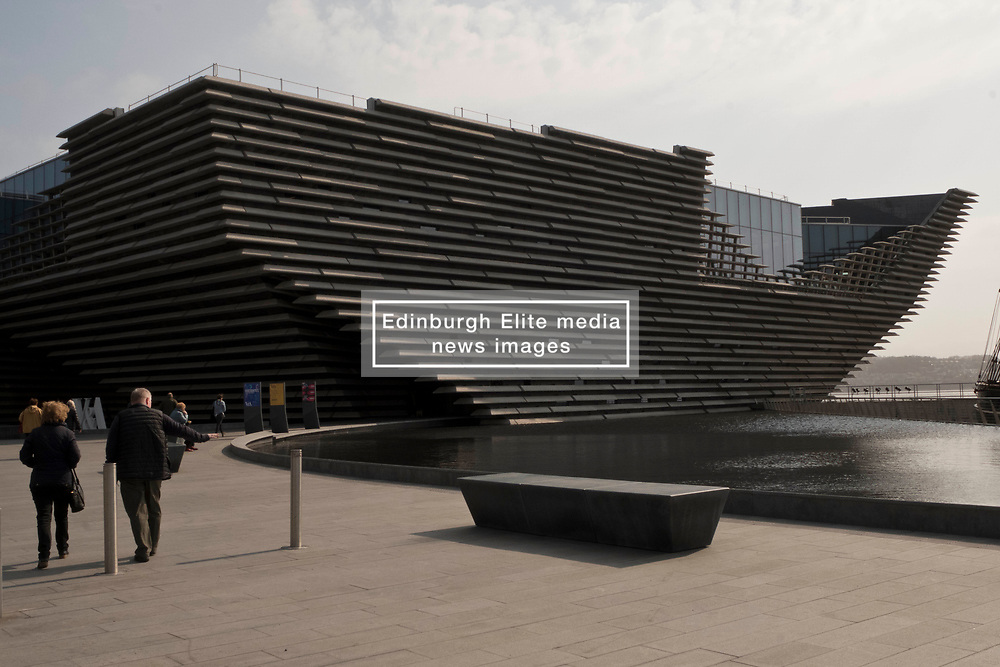 Pictured: <br /> The new V&A design museum was open for business today on a cold bright spring day. Visitors of all ages enjoyed the setting but perhaps not the prices in the gift shop with very little for the young visitor at pocket-money prices<br /> <br /> <br /> Ger Harley   EEm 8 April 2019
