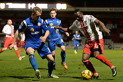 Stevenage's Francois Zoko  - Photo mandatory by-line: Mitchell Gunn/JMP - Tel: Mobile: 07966 386802 22/02/2014 - SPORT - FOOTBALL - Broadhall Way - Stevenage - Stevenage v Crewe Alexandra - League One