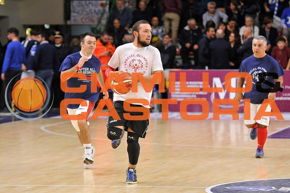 Special Olimpics<br /> Banco di Sardegna Dinamo Sassari - Vanoli Cremona<br /> LegaBasket Serie A LBA Poste Mobile 2016/2017<br /> Sassari 26/11/2016<br /> Foto Ciamillo-Castoria