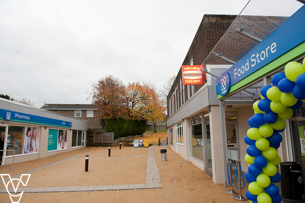 General view of the outside of the newly refurbished Washingborough precinct, including the Lincolnshire Co-operative's Pharmacy and Food Store <br /> <br /> Official re-opening of the refurbished Washingborough Food Store and precinct, which includes the Co-op Pharmacy.<br /> <br /> Date: October 30, 2015<br /> Picture: Chris Vaughan/Chris Vaughan Photography