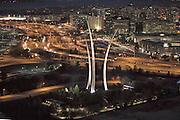 U.S. Air Force Memorial. evening aerial view