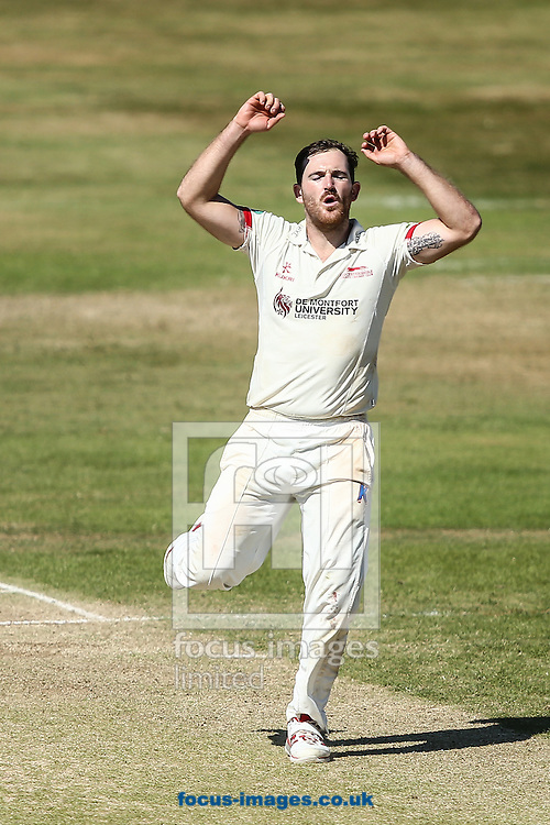 Ben Raine of Leicestershire rues a near miss during the Specsavers County C'ship Div Two match at the County Ground, Northampton<br /> Picture by Andy Kearns/Focus Images Ltd 0781 864 4264<br /> 15/08/2016