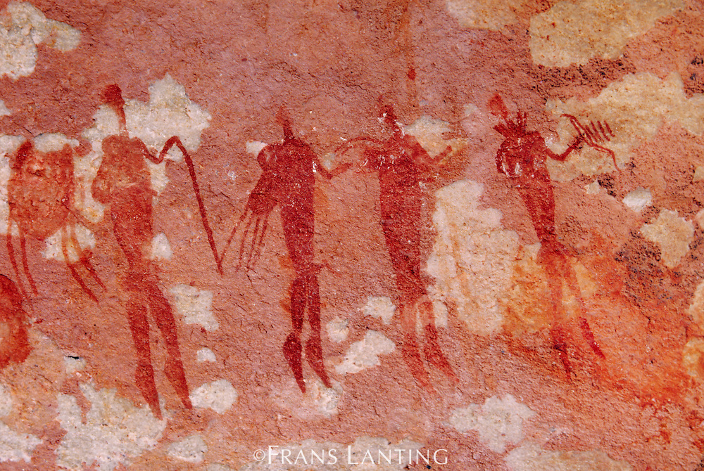Rock paintings of human figures, Bushman's Kloof, South Africa