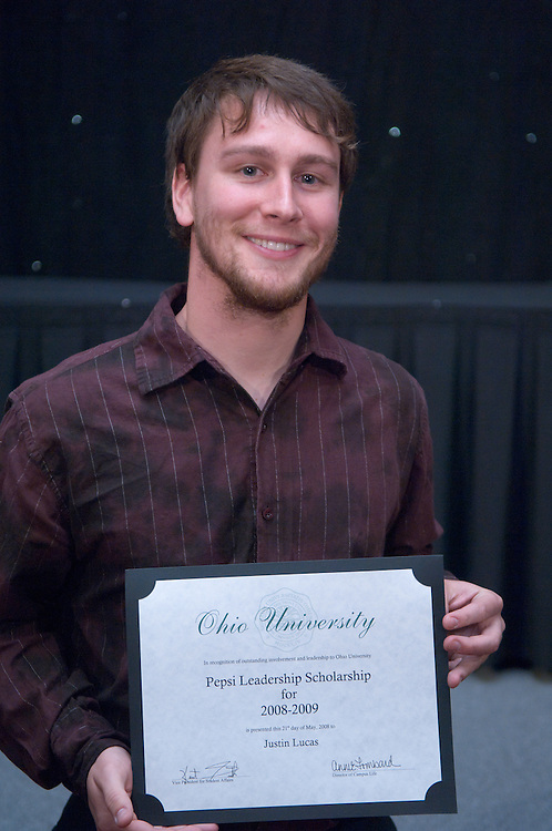 1890525th Annual Leadership Awards Gala..Pepsi Ohio University Campus Leadership Scholarship..Justin Lucas