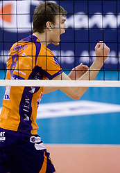 Oliver Venno (8) of ACH at volleyball match of CEV Indesit Champions League Men 2009/2010 between ACH Volley Bled (SLO) and Istanbul Buyuksehir BLD (TUR), on December 9, 2009 in Arena Tivoli, Ljubljana, Slovenia. (Photo by Vid Ponikvar / Sportida)