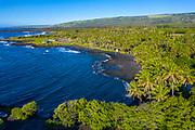 Punaluu Black Sand Beach, Pahala, Kau, Big Island of Hawaii, Hawaii