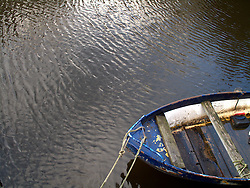 NETHERLANDS AMSTERDAM 02JAN09 - Detail of a boat moored in a canal in Amsterdam's city centre...jre/Photo by Jiri Rezac