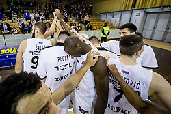 Players of Partizan after the basketballl match between KK Petrol Olimpija Ljubljana and KK Partizan NIS mts in Round #20 of ABA League 2017/18, on February 10, 2018 in Tivoli sports hall, Ljubljana, Slovenia. Photo by Vid Ponikvar / Sportida