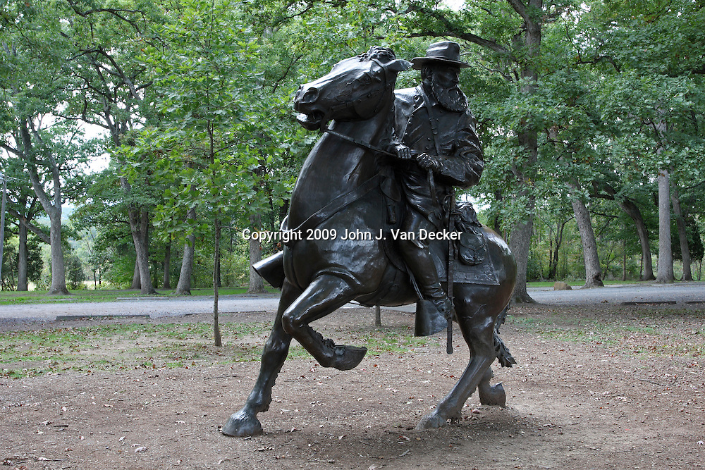 Monument to General James Longstreet. Commander of the Confederate Army of Northern Virginia's 1st Corp.