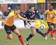 Partick Thistle's Frederic Frans and Dundee's Paul Heffernan  - Dundee v Partick Thistle, SPFL Premiership at Dens Park<br /> <br />  - &copy; David Young - www.davidyoungphoto.co.uk - email: davidyoungphoto@gmail.com