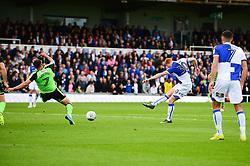 Rory Gaffney of Bristol Rovers scores to make it 1-0 - Mandatory by-line: Dougie Allward/JMP - 30/09/2017 - FOOTBALL - Memorial Stadium - Bristol, England - Bristol Rovers v Plymouth Argyle - Sky Bet League One