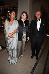 Left to right, PRINCESS UMA DUBASH OF MORVI, PRINCESS EZRA JAH OF HYDERABAD and MARK SHAND at a dinner to celebrate the opening of 'Maharaja - The Spendour of India's Royal Courts' an exhbition at the V&A, London on 6th October 2009.