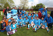 Fairfield with the trophy after beating Cutty Sark 2-1 in the Dundee Sunday FA League Cup Final - Fairfield v Cutty Sark Dundee Sunday FA League Cup Final at Downfield Park<br /> <br />  - &copy; David Young - www.davidyoungphoto.co.uk - email: davidyoungphoto@gmail.com