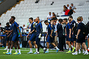 Chelsea players come on to the pitch during the Chelsea Training session ahead of the 2019 UEFA Super Cup Final between Liverpool FC and Chelsea FC at BJK Vodafone Park, Istanbul, Turkey on 13 August 2019.