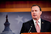 Senator MIKE LEE (R-UT) during a news conference on Capitol Hill on Thursday where Republicans announced an alternative 2013 budget proposal that they plan to introduce in the Senate.