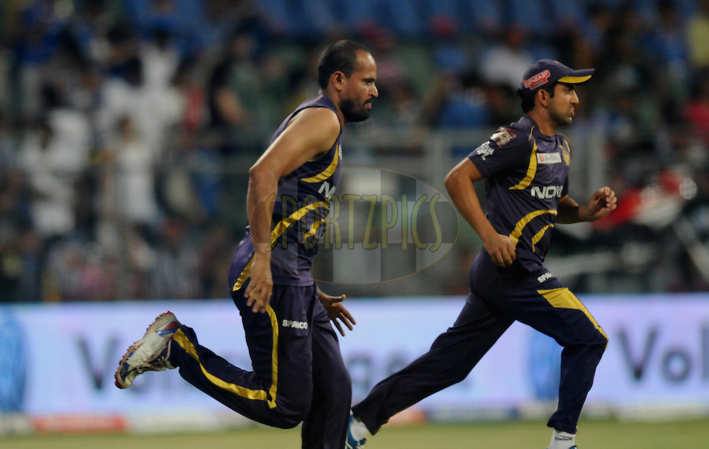 Yusuf Pathan of Kolkatta Knight Riders during a practice session before the start of the match 65 of the Indian Premier League ( IPL) 2012  between The Mumbai Indians and the Kolkata Knight Riders held at the Wankhede Stadium in Mumbai on the 16th May 2012..Photo by Pal Pillai/IPL/SPORTZPICS.