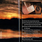 Magazine layout in National Geographic Magazine<br /> December 1994