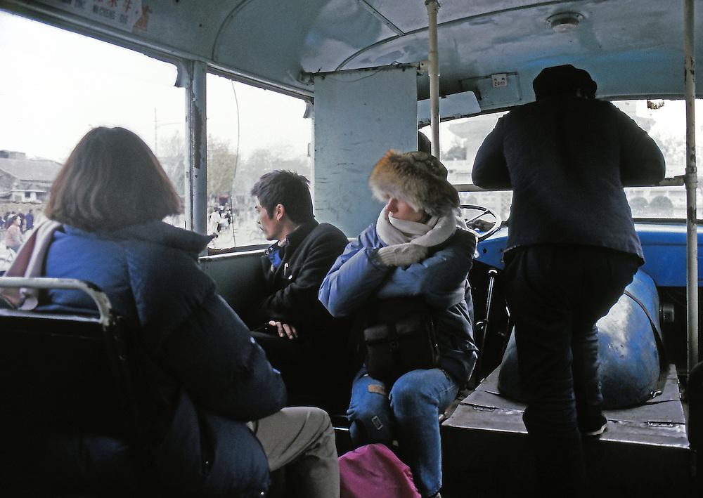 Travelling in winter through maoist China. Ektachrome Film.