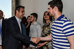 May 6, 2017 - Athens, attica, Greece - Leader of Opposition and New Democracy (Nea Dimokratia), Kyriakos Mitsotakis at the opening of the re founded Youth Organisation of New Democracy ONNED, in Athens on May 6, 2017  (Credit Image: © Wassilios Aswestopoulos/NurPhoto via ZUMA Press)