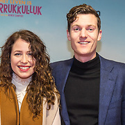 NLD/Amsterdam/20180122 - Filmpremiere Het leven is vurrukkulluk,  Sanne Vogel met partner Melchior Schimmel