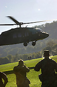 ROTC Helicopters Landing, Loading troops in Soccer fields