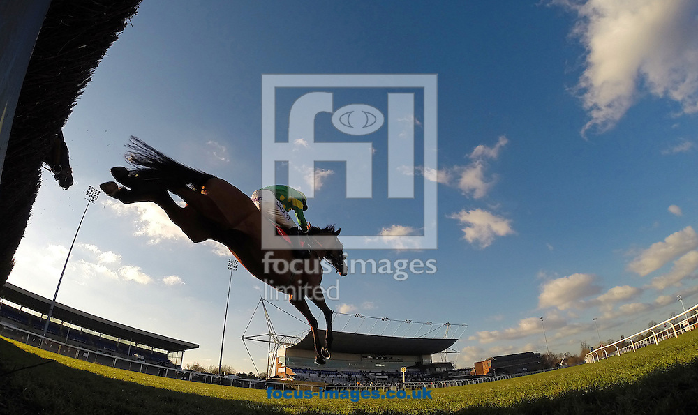 Daryl Jacobs riding Third Intention winning the Racing UK 1 Price 3 Devices Graduation Chase at Kempton Park, Sunbury<br /> Picture by John Hoy/Focus Images Ltd +44 7516660607<br /> 06/02/2015