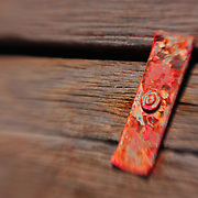 Rusted Bracket And Wood Panels - Motor Transport Museum - Campo, CA - Lensbaby