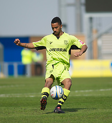 COLCHESTER, ENGLAND - Saturday, April 24, 2010: Tranmere Rovers' Shaleum Logan in action during the Football League One match at the Western Community Stadium. (Photo by Gareth Davies/Propaganda)