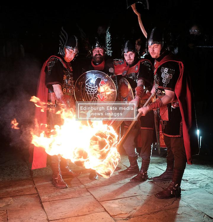 EDINBURGH'S HOGMANAY TORCHLIGHT PROCESSION, Friday 30th December 2016<br /> <br /> Vikings prepare for the torchlight procession to Calton Hill, Edinburgh<br /> <br /> (c) Alex Todd | Edinburgh Elite media