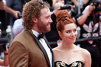 T.J. Miller and Kate Gorney at the Wonderstruck gala screening,  at the 70th Cannes Film Festival Thursday May 18th 2017, Cannes, France. Photo credit: Doreen Kennedy