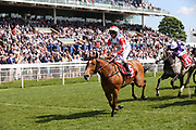 WHATS THE STORY (5) ridden by Joe Fanning and trained by Keith Dalgleish winning The Matchbook Betting Podcast Hambleton Stakes over 1m (£50,000) during the second day of the Dante Festival at York Racecourse, York, United Kingdom on 16 May 2019.