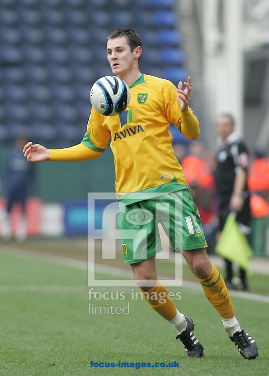 Preston - Saturday February 14th, 2009: Jonathan Grounds of Norwich City in action against Preston North End during the Coca Cola Championship match at Deepdale, Preston. (Pic by Michael Sedgwick/Focus Images)