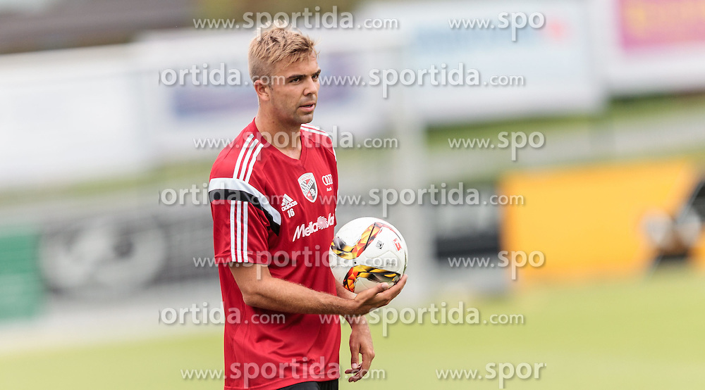 13.07.2015, Waldstadion, Mittersill, AUT, Trainingslager, FC Ingolstadt 04, im Bild Lukas Hinterseer (FC Ingolstadt) // during the Trainingscamp of German Bundesliga Club FC Ingolstadt at the Waldstadion in Mittersill on 2015/07/013. EXPA Pictures © 2015, PhotoCredit: EXPA/ JFK