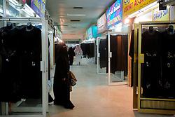 QATAR DOHA 11FEB07 - Arab women dressed in black Abayas visit shops in the Souk Al-Arabiya in Doha, Qatar...jre/Photo by Jiri Rezac..© Jiri Rezac 2007