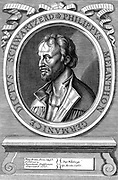 Philip Melancthon (Schwarzerd) 1497-1560, German Protestant reformer. 18th century engraving after original likeness by Durer.
