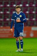 Jamie Brandon (#20) of Scotland U21 (Hearts) during the U21 UEFA EUROPEAN CHAMPIONSHIPS match between U21 Scotland and U21 Greece at Tynecastle Park, Edinburgh, Scotland on 15 November 2019.
