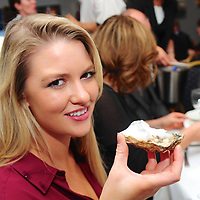 REPRO FREE<br /> Sophie Kavanagh from Kinsale enjoying Oysters at the 'Fruits De Mer' Seafood Brunch, part of the 36th Kinsale Gourmet Festival.<br /> Picture. John Allen