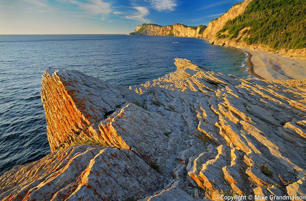 Shoreline along the  Atlantic Ocean <br /> Forillon National Park<br /> Quebec<br /> Canada