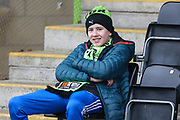 FGR supporter during the EFL Sky Bet League 2 match between Forest Green Rovers and Exeter City at the New Lawn, Forest Green, United Kingdom on 1 January 2020.