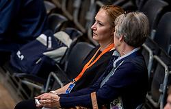 02-04-2017 NED:  CEV U18 Europees Kampioenschap vrouwen dag 2, Arnhem<br /> Bulgarije - Turkije 3-2 / Riet Ooms en CEV delegate Banu Can-Schurmann