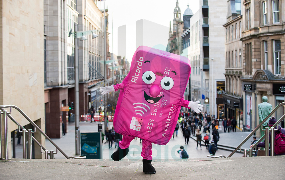 FREE FIRST USE<br /> <br /> First Bus mascot Ricardo around Glasgow promoting contactless payments on First Bus.<br /> <br /> Lenny Warren / Warren Media<br /> 07860 830050  01355 229700<br /> lenny@warrenmedia.co.uk<br /> www.warrenmedia.co.uk<br /> <br /> All images &copy; Warren Media 2017. Free first use only for editorial in connection with the commissioning client's  press-released story. All other rights are reserved. Use in any other context is expressly prohibited without prior permission.