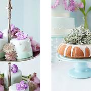 Blue themed dessert table, Wedding Flowers magazine