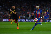 Neymar Jr control the ball during the La Liga match between Barcelona and Atletico Madrid at Camp Nou, Barcelona, Spain on 21 September 2016. Photo by Eric Alonso.