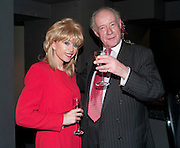 SALLY FARMILOE; MARTIN ELLIS JONES, Book launch for La di da di Bloody Da! by Robin Anderson. Fleming's cocktail bar. Half Moon St. London. 8 Feb 2010.