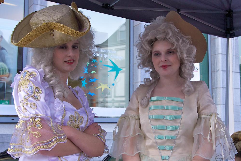 Marie Antoinette inspired 17th Century French women in Mons