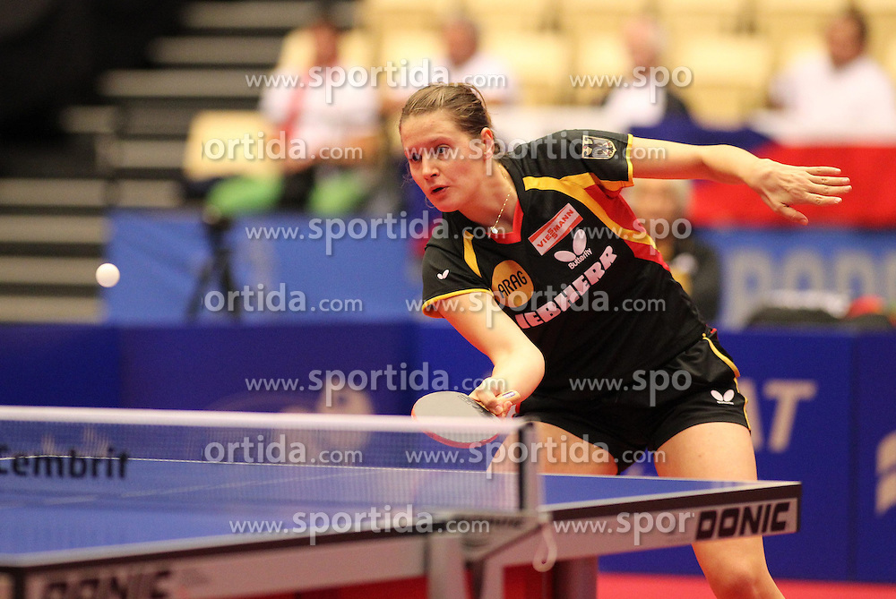 19.10.2012, MGH Arena, Herning, DEN, ETTU, Tischtennis Europameisterschaft, im Bild Irene IVANCAN (GER) bei der Ballannahme // during the Table Tennis European Championships at the MGH Arena, Herning, Denmark on 2012/10/19. EXPA Pictures © 2012, PhotoCredit: EXPA/ Eibner/ Wuest ***** ATTENTION - OUT OF GER *****