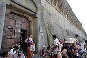 L'esterno del penitenziario di Volterra