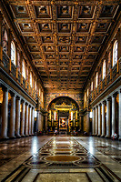 """The nave of the Basilica of Santa Maria Maggiore - Rome""...<br />